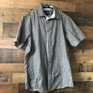Other - Cremieux Short Sleeve Paisley Print Button Up